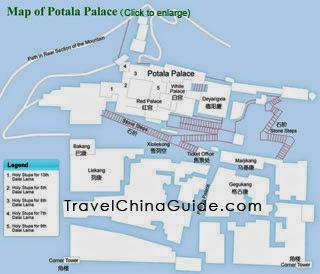 Map of Potala Palace