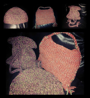 knitted bags and hat
