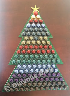 christmas tree with nespresso caps