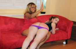 Spanked Call Girls (F/f): Madam Lana Spanks Dani & Ginger for Fighting spanking