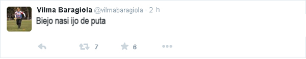 Vilma Baragiola Tuit borrado