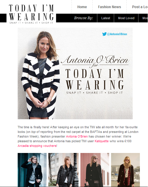 today i'm wearing site, antonia o'brien, style star of the month, style blogger, fashion blogger