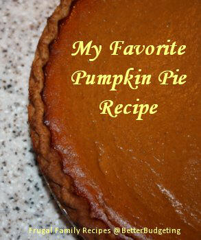 Homemade Pumpkin Pie Recipe - My favorite!