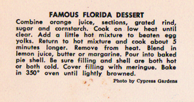 Famous Florida Dessert - Orange Meringue Pie Recipe - ponyboy press