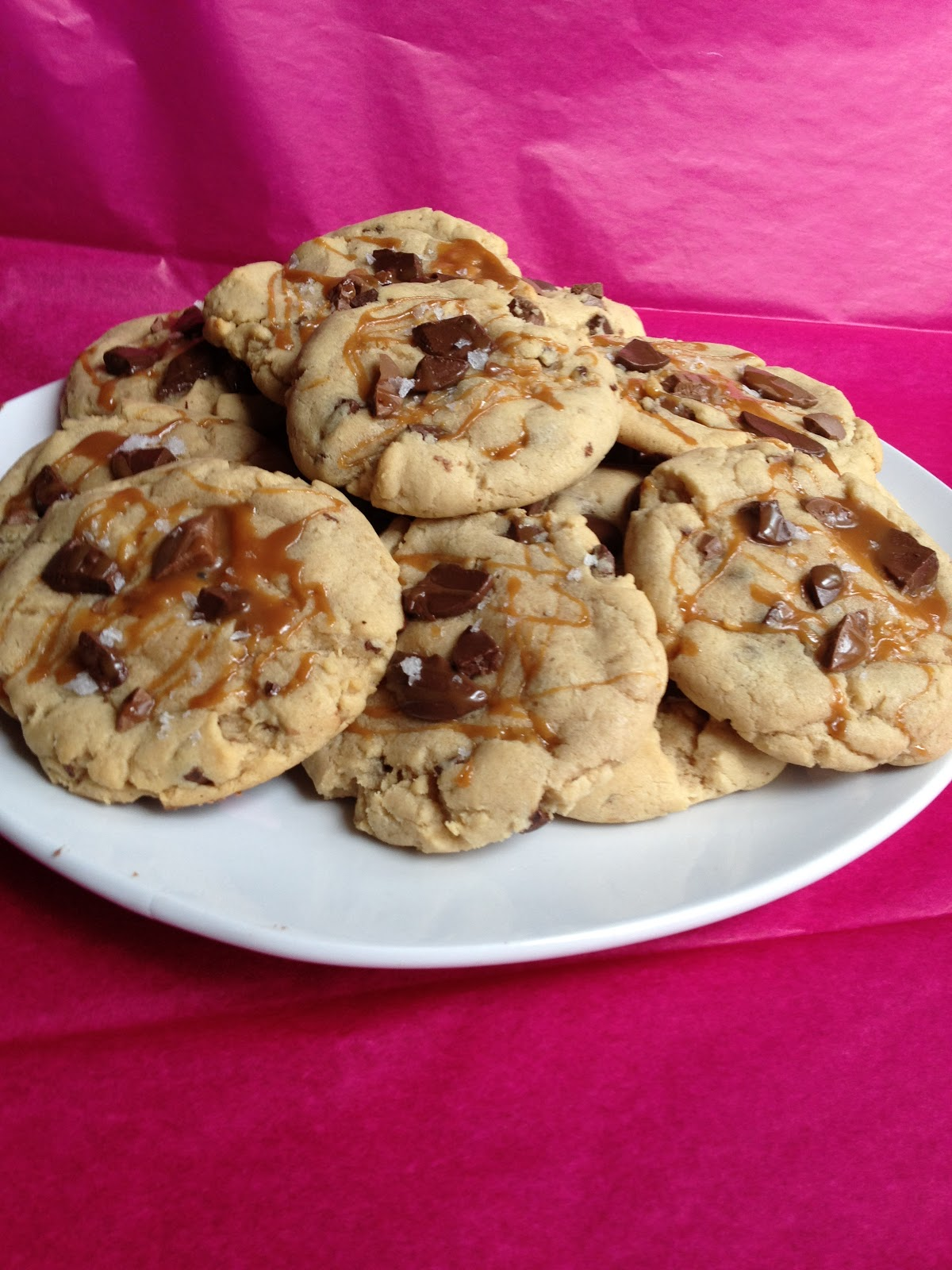 Diane Can Cook: Salted Caramel Chocolate Chunk Cookies