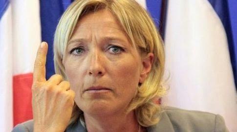 Marine Le Pen blague blonde