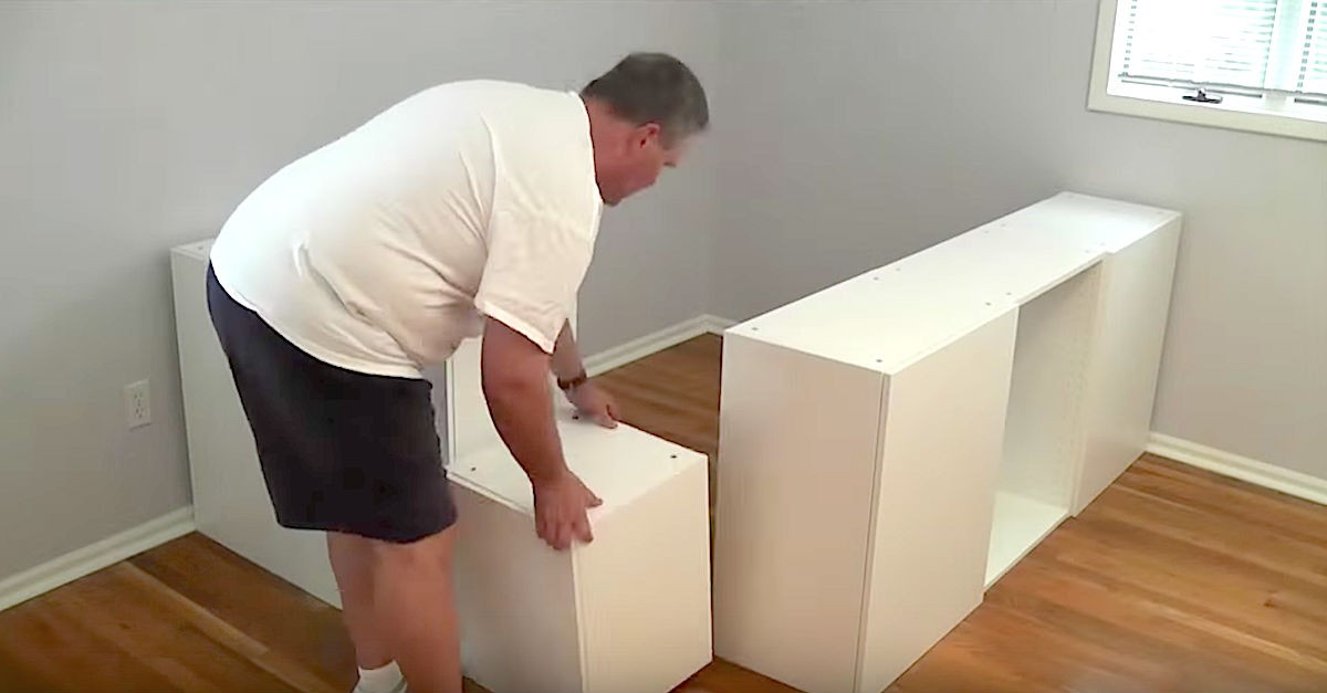 Dad Transforms 7 IKEA Kitchen Cabinets Into A Platform Bed With ...