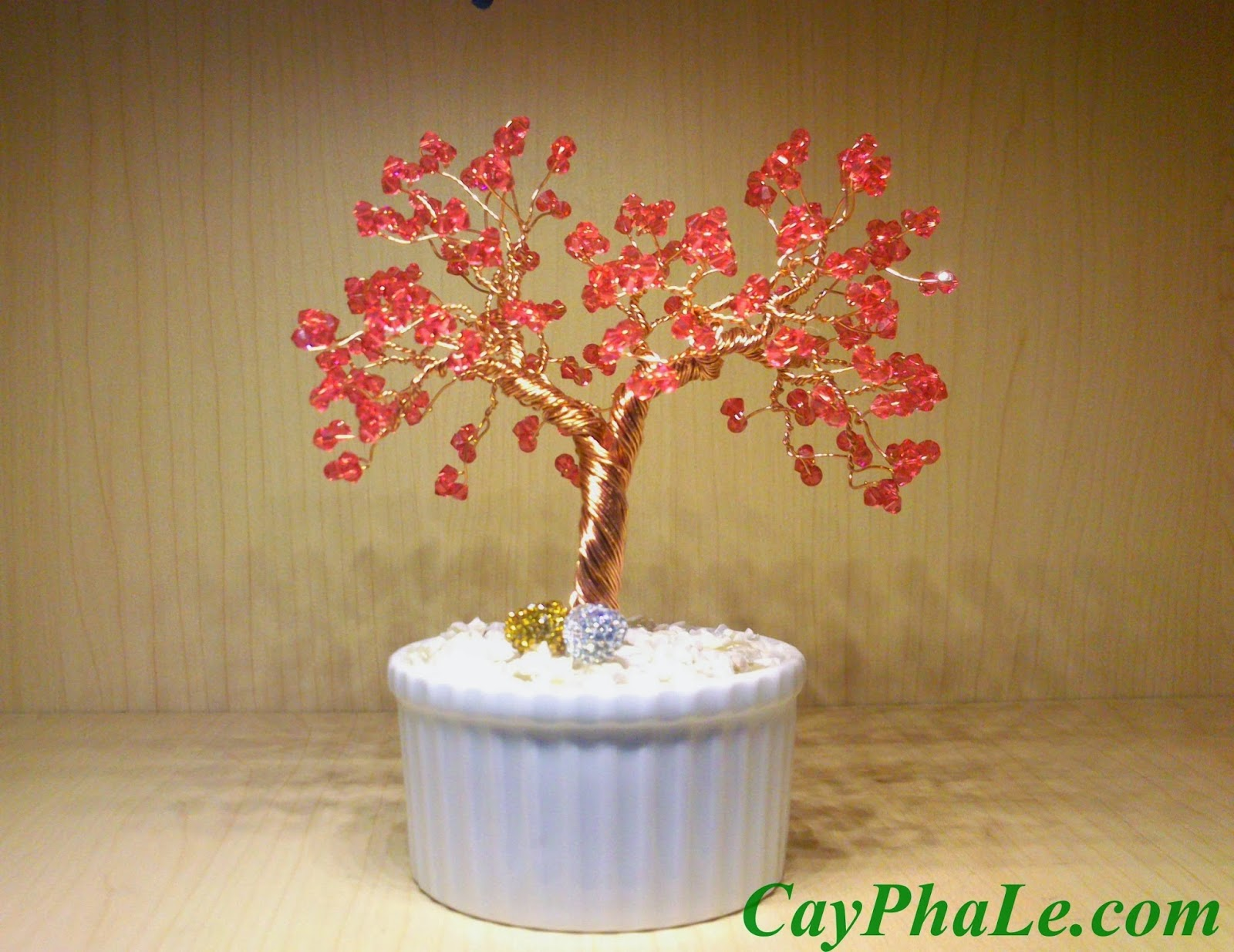 Cây pha lê màu hồng - Mạng Hỏa