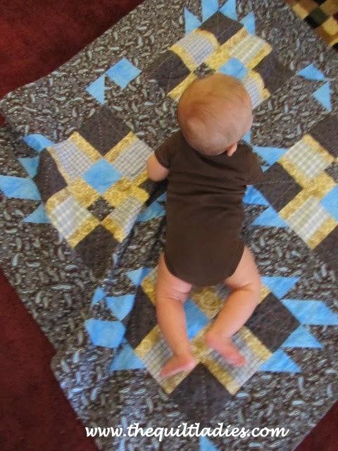 Baby boy's first quilt