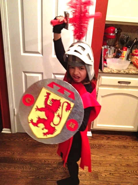 Knight in a night a homemade knight costume p art y this morning i was pleasantly woken up by an excited and oh so happy 8 year old jumping on my bed giving me cuddles and telling me i was the best mom solutioingenieria Choice Image