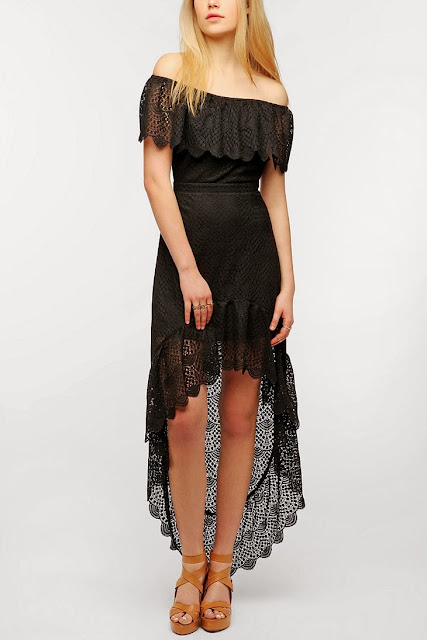 Pins And Needles Lace Off-The-Shoulder Maxi Dress