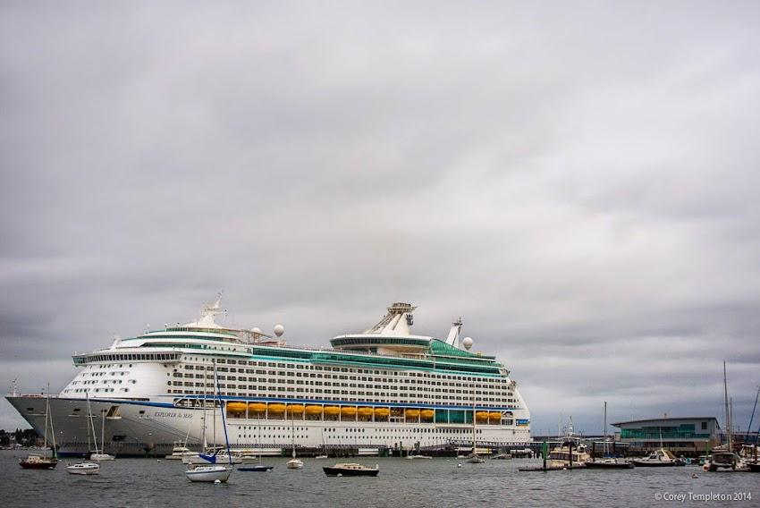 Portland, Maine September 2014 Royal Carribean Explorer of the Seas cruise ship at Ocean Gateway photo by Corey Templeton
