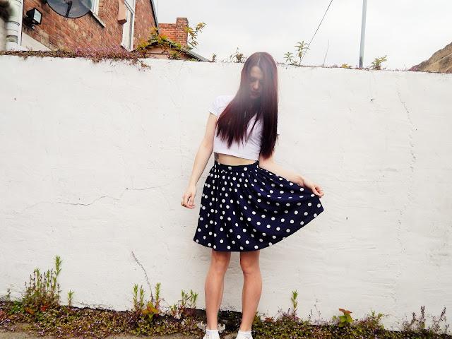 Newlook polka dot skirt