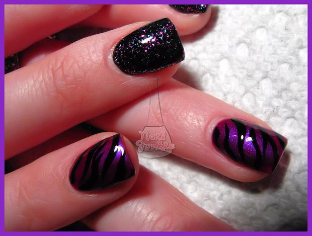 pink and black nail design - pccala