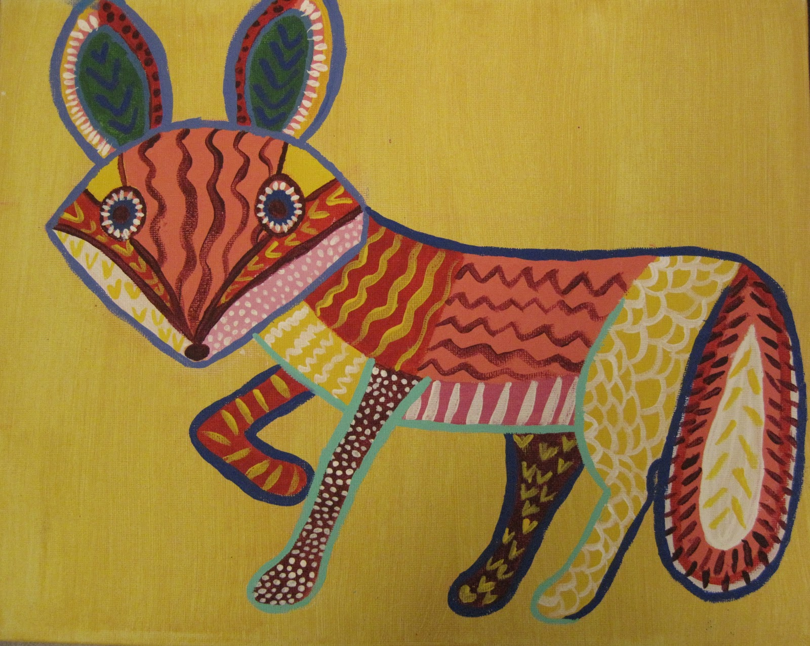 angela anderson art blog whimsical fox painting after school art