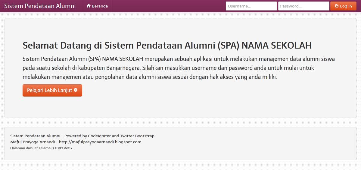 01 - Sistem Pendataan Alumni Dengan Codeigniter