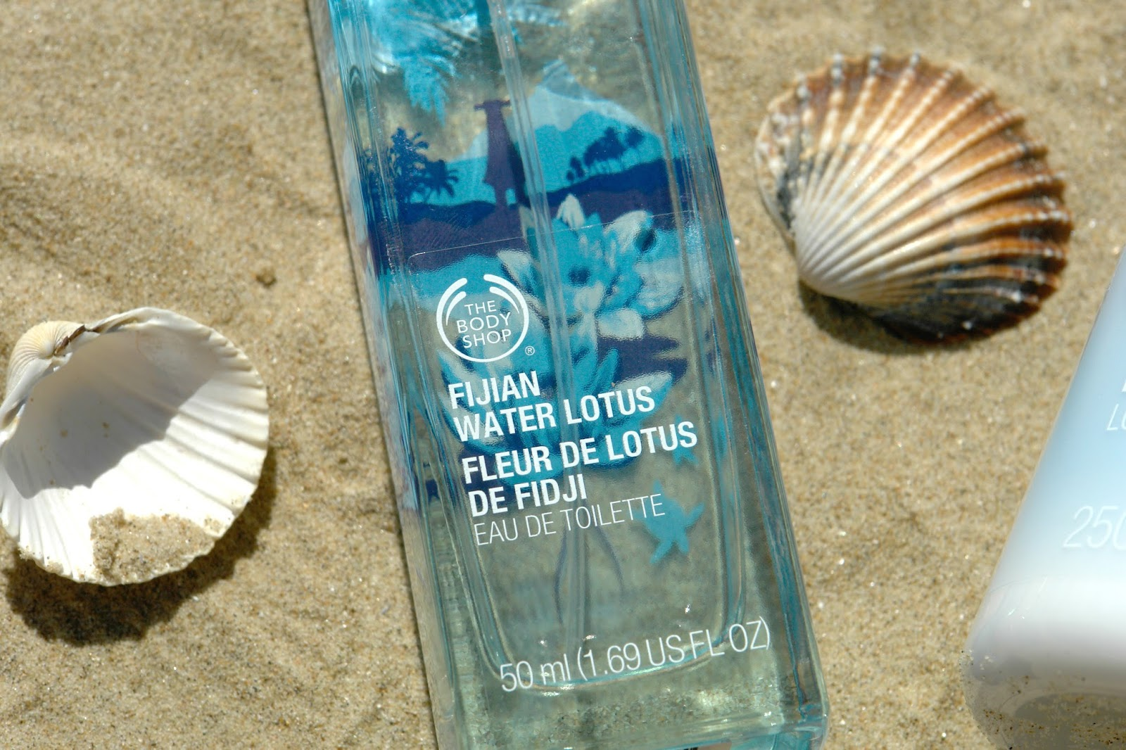 The Body Shop Fijian Water Lotus range, The Body Shop, perfume, summer, beauty, review,  Fijian Water Lotus Eau de Toilette, Fijian Water Lotus Perfume Oil, Fijian Water Lotus Body Lotion, beauty blogger, UK blog,  Fragrance Mist, Shower Gel and Body Butter, Fijian Water Lotus Range