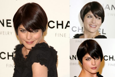 Selma Blair short haircut with bangs