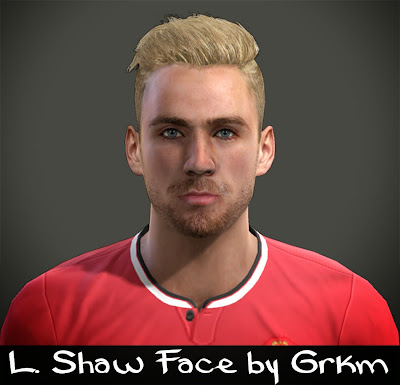 PES 2013 L. Shaw Face by Grkm