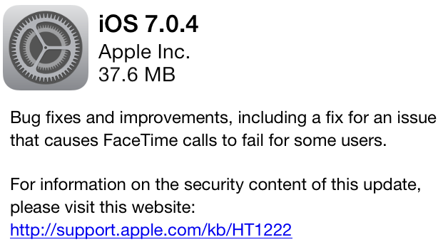 iOS 7.0.4 Firmware by TipTechNews