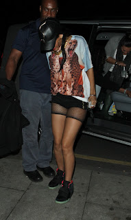 Rihanna stepping out of the car  Whisky Mist Nightclub in London