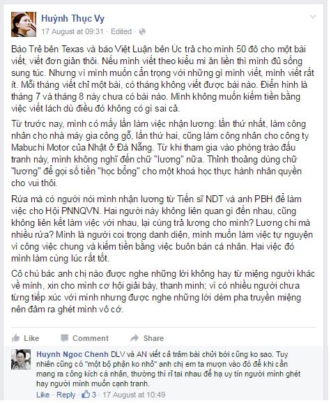 Huỳnh Thục Vy quyết sống mái với phe Nguyễn Ngọc Như Quỳnh!