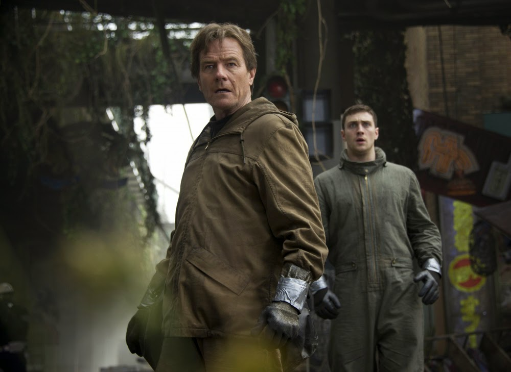 Bryan Cranston and Aaron Taylor-Johnson in Godzilla (2014)