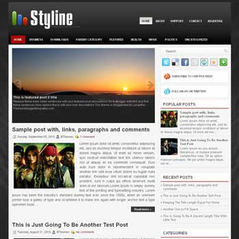 Styline blog template. magazine blogger template style. magazine style template blogspot