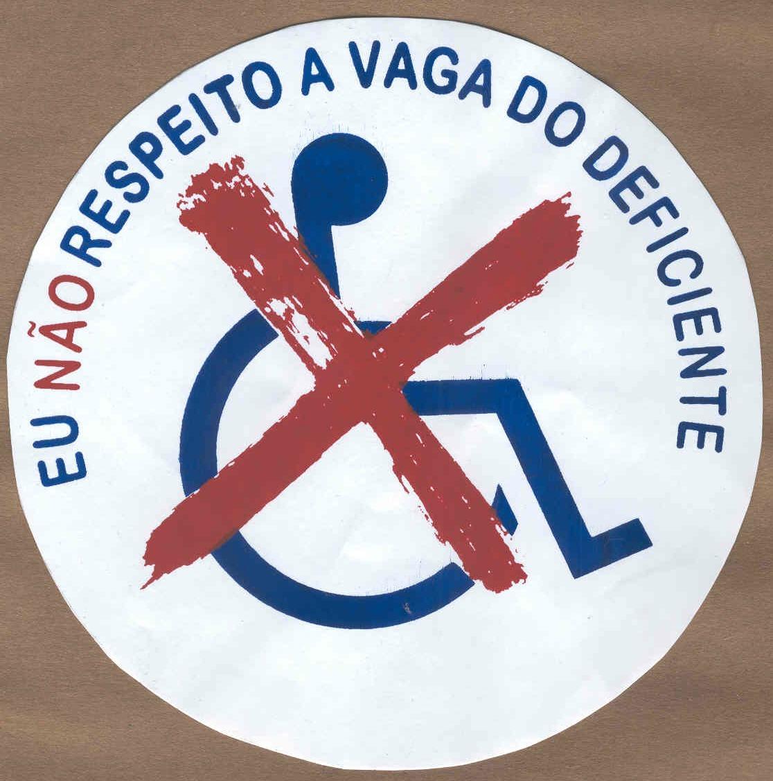 Adesivo Para Geladeira De Kombi ~ Pessoa com defici u00eancia defende a sua vaga Portogente