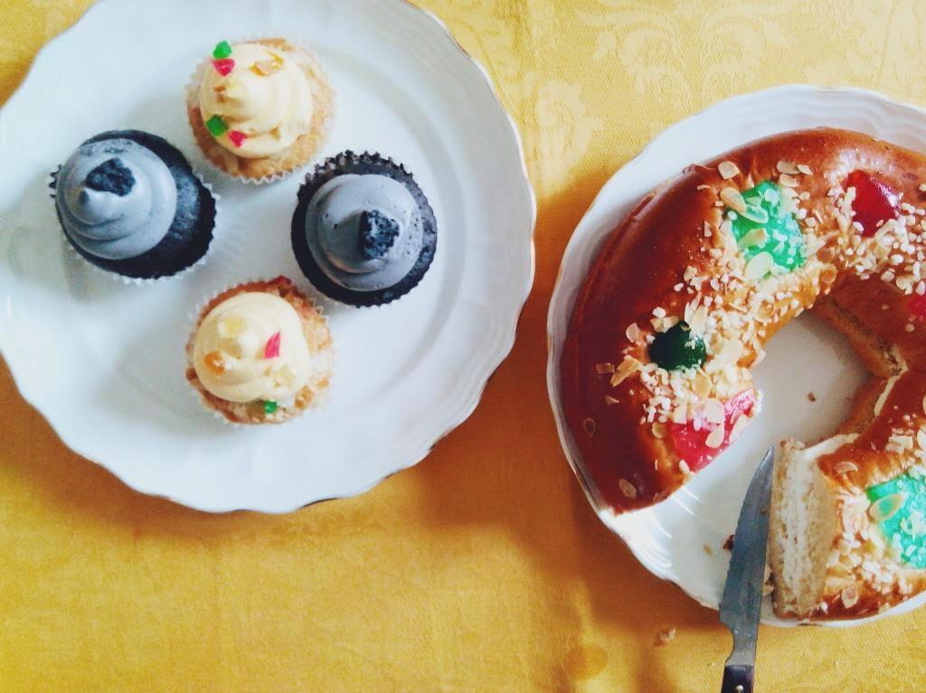 roscón de reyes y cupcake