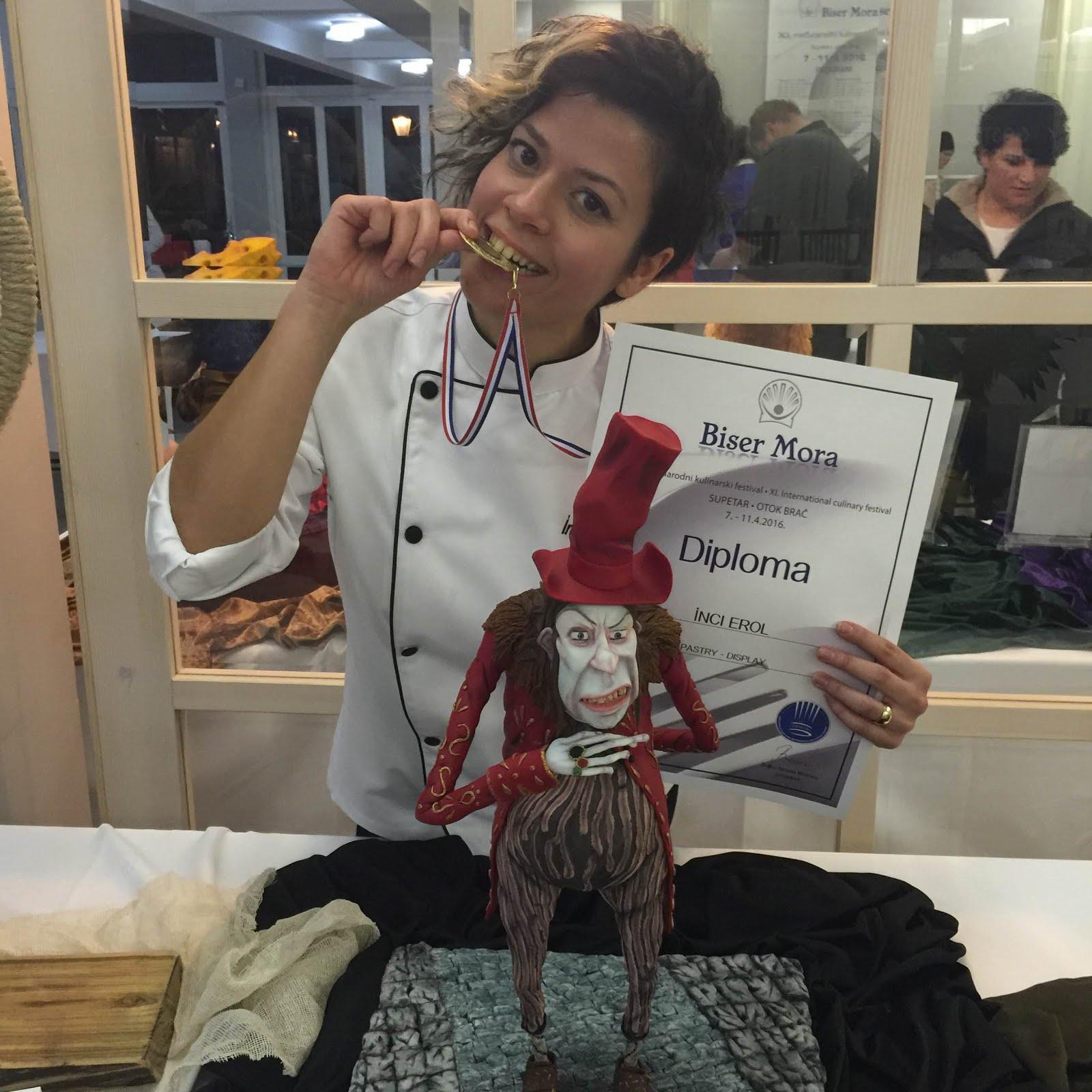 Hırvatistan 11. International Culinary Festival' de ALTIN madalya alan çalışmam: Archibald Snatcher