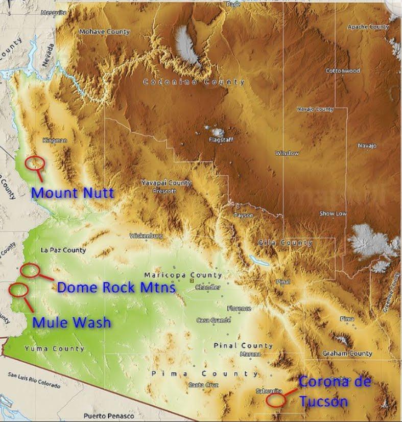 Arizona Geology 4 New Geologic Map Quadrangles In Arizona
