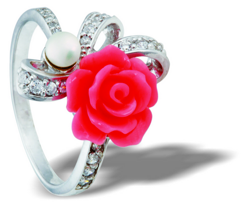 Tanya Rossi Pink Rose Ring Freedom Riders Collection TRR 179E Price