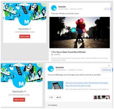 Google + Rilis Disain Baru, Jiplak Disain Facebook?