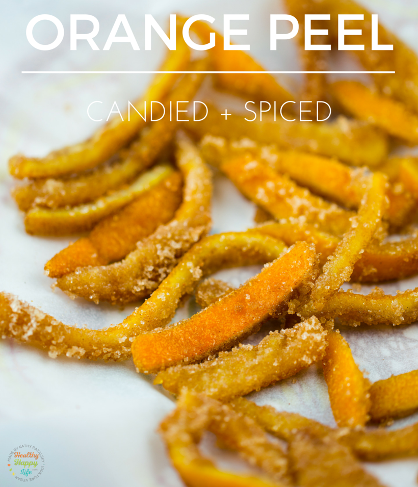 Orange Peels, Candied with spices and brandy