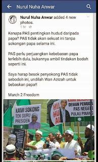 Kenapa PAS pentingkan hudud daripada papa Nurul Nuha Anwar
