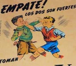 Propaganda do Toddy que incita a briga de duas crianças.
