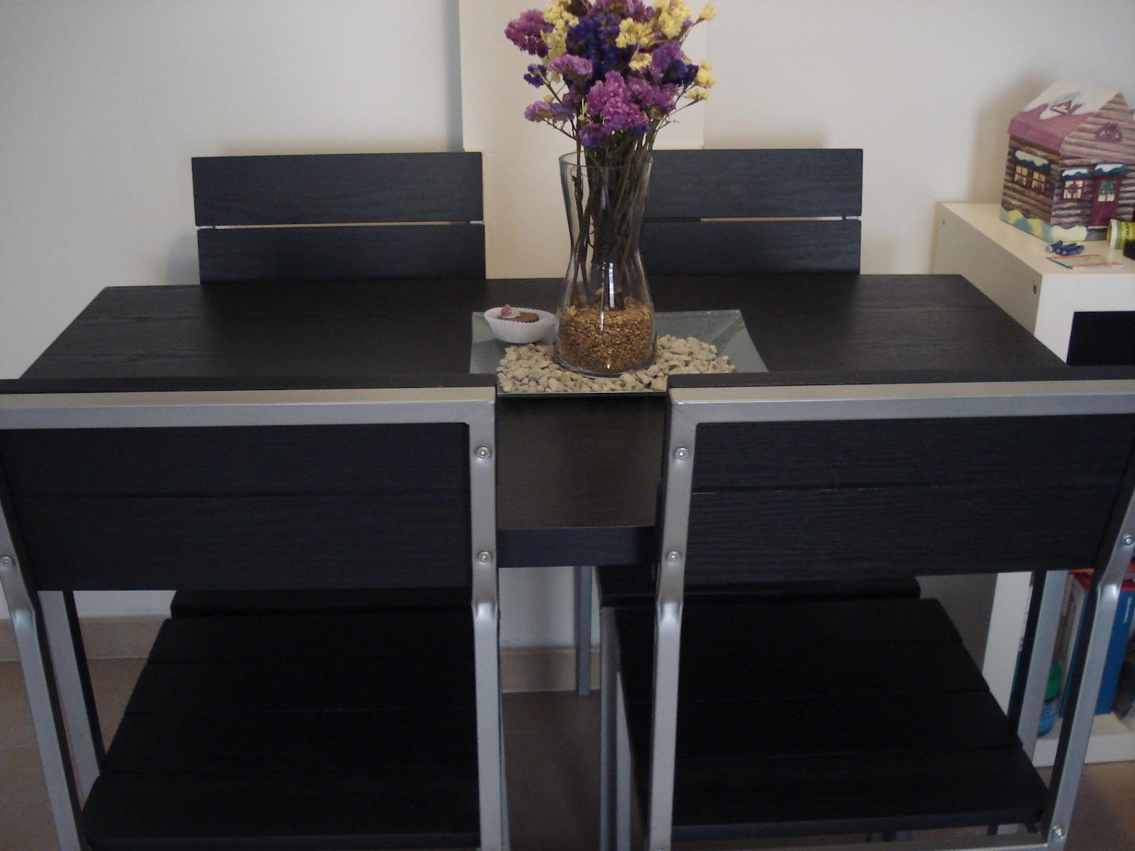 T preguntas c mo pintar de blanco una mesa y sus sillas for Pedestales metalicos para mesas