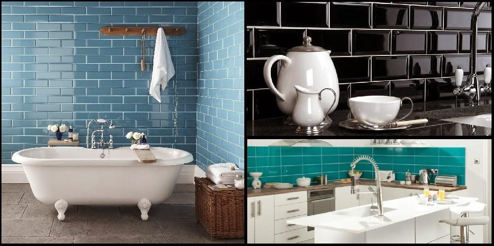 Interior relooking metro tiles dalla metropolitana alla casa - Piastrelle diamantate bagno ...