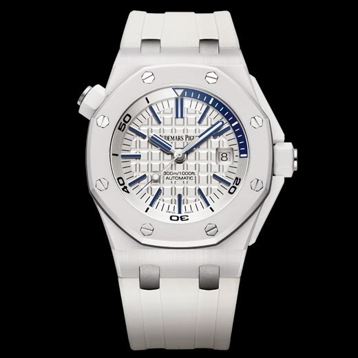 Oceanictime audemars piguet royal oak offshore diver white ceramic for Royal oak offshore ceramic