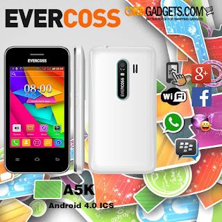 Harga dan Spesifikasi Evercoss A5K, Smartphone Android 400 Ribuan Terbaru