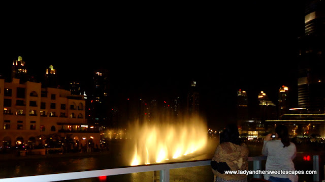 Dubai Fountain View at Madeleine Cafe