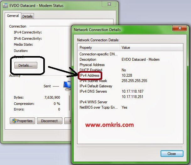 omkriscom : Cara Cek Alamat IP Komputer Sendiri (Privat IP Addres)