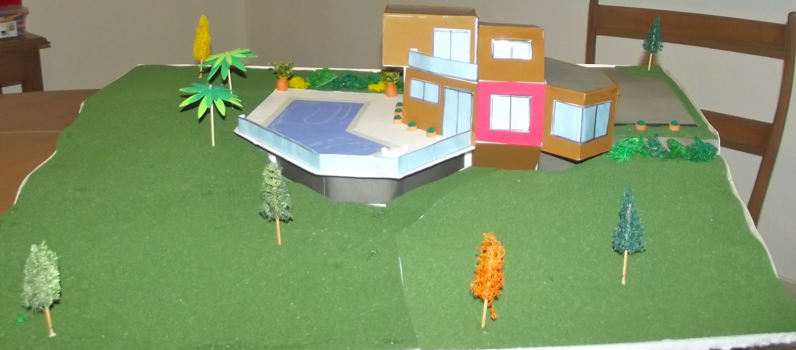 Lizzie heilbron arquitectura maqueta final del proyecto for Maquetas de jardines