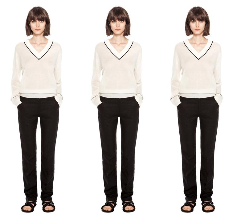 Totême Brighton V-Neck cashmere sweater, elin kling collection