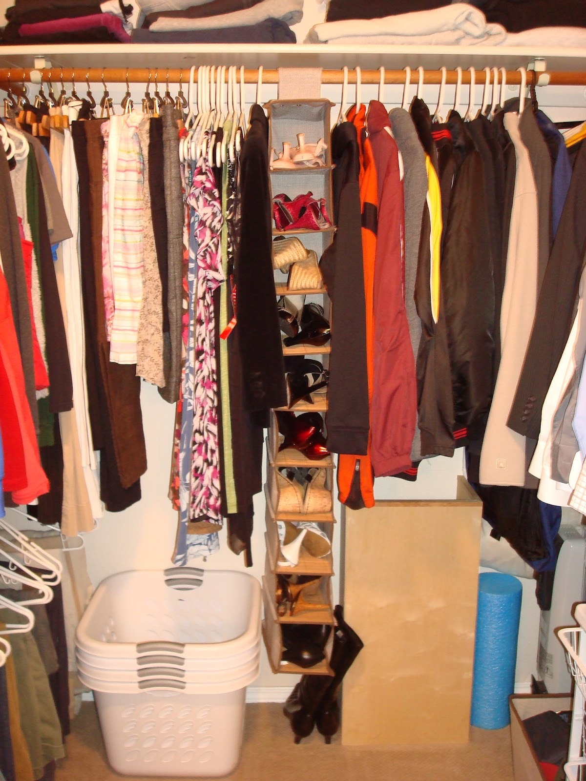 How To Share A Master Bedroom Closet With Your Spouse