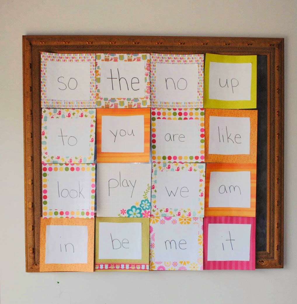 Sight Words on Picture Frame