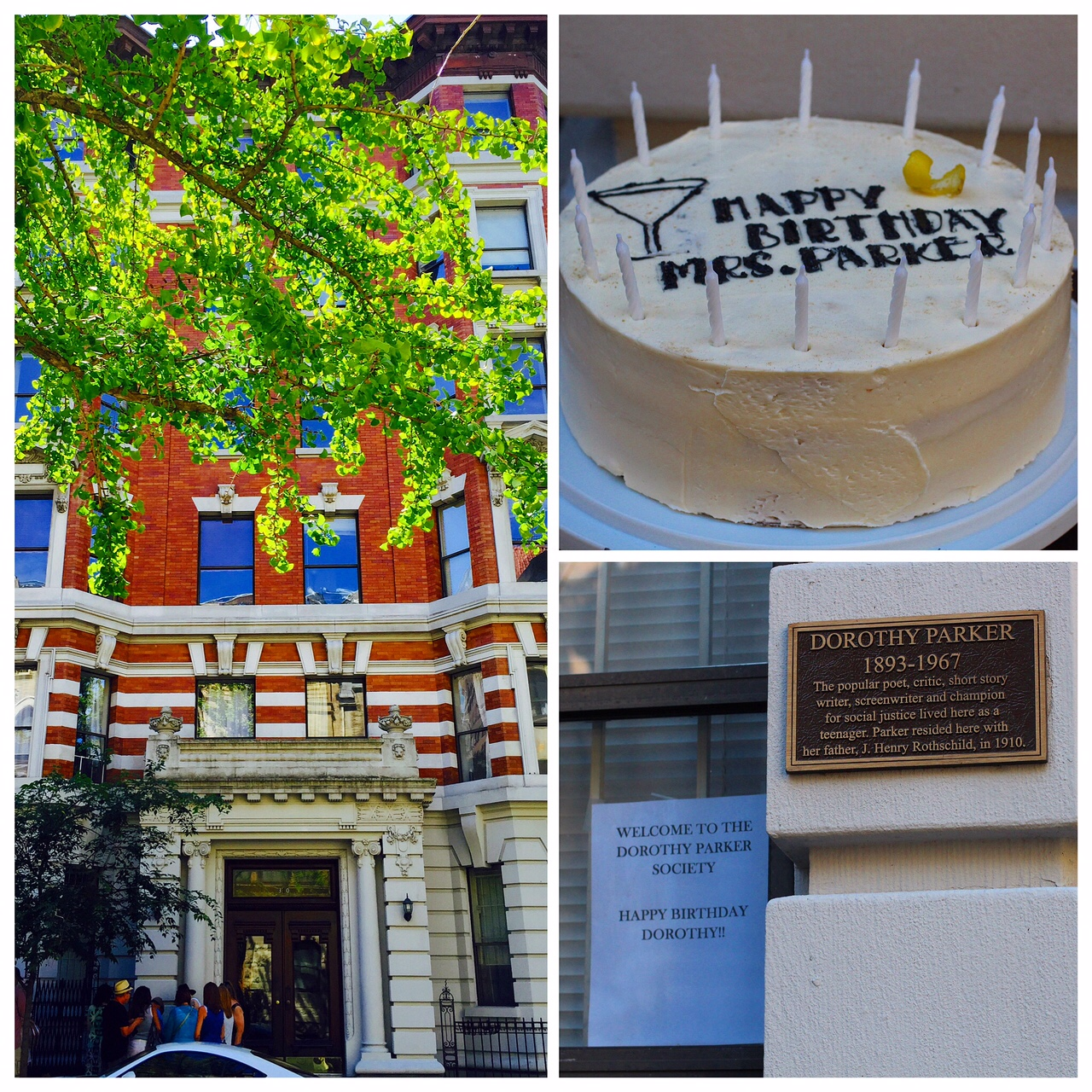 To Celebrate Her Birthday I Went On A Walking Tour Of Upper West Side Haunts Led By Kevin Fitzpatrick Author Multiple Books Mrs Parker And The