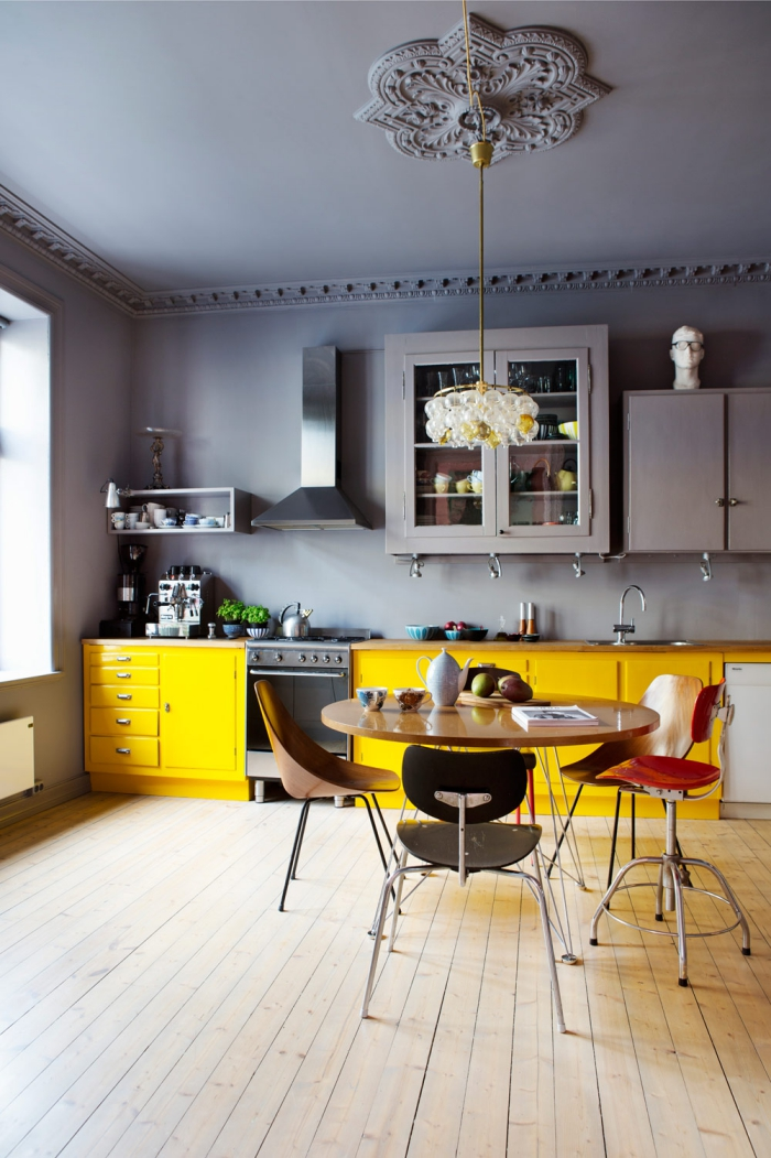 Wn trza zewn trza blog wn trzarski ta kuchnia for Grey yellow kitchen ideas