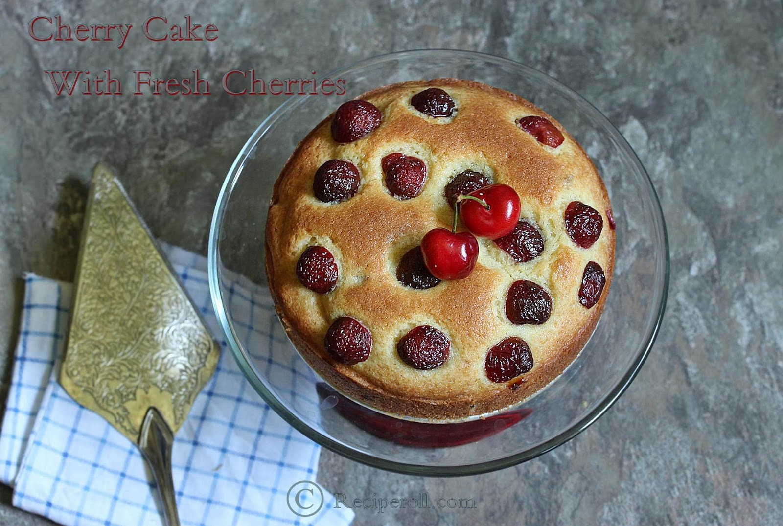 Cherry cake recipe using fresh cherries